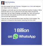 WhatsApp Breaches 1 Billion Users Mark is whatsapp really going to spy on its users??? Is WhatsApp really going to spy on its users??? CaP4LjkWwAEqF1L 150x159