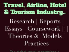 Travel- airline- hotel and tourism industry