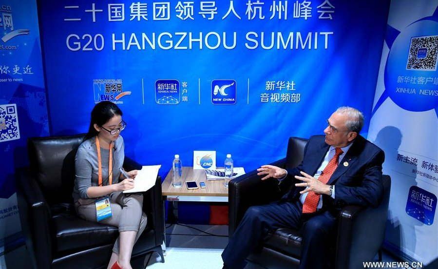 Interview at #G20: OECD SG Gurria discusses #China's focus ...