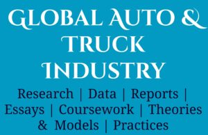 Global Auto and Truck Industry- MBA Automobiles mba knowledge MBA Knowledge With Free Resources and Tools Global Auto and Truck Industry