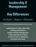 Leadership & Management: Key Differences leadership Leadership Leadership and Management Key Differences 150x194