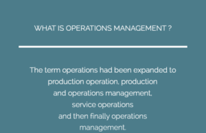 Key Concepts In Operations Management