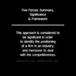 Five Forces Model: Summary, Significance & Framework generic strategies Generic Strategies: Concept, Framework, Performance & Risk FIVE FORCES SIGNIFICANCE 150x150