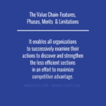 The Value Chain: Features, Phases, Merits  & Limitations value chain Value Chain Analysis: Primary & Support Activities value chain features limitations 150x150