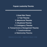 Leadership Theories: Overview, Approach & Practice leadership Transactional or Management & Transformational or Relationship Theories of Leadership LEADERSHIP THEORIES 150x150