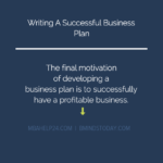 Writing A Successful Business Plan: Concept & Key Factors
