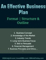An Effective Business Plan: Format, Structure & Outline