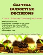 Capital Budgeting Decisions | Criteria | Substitute Directions | Implications capital budgeting Capital Budgeting | Definitions | Features | Process | FIVE Stages Capital Budgeting Decisions Criteria Substitute Directions Implications 150x194