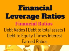 Financial Leverage Ratios- Debt ratio,Total Assets, Equity ratio, Times Interest Earned ratio