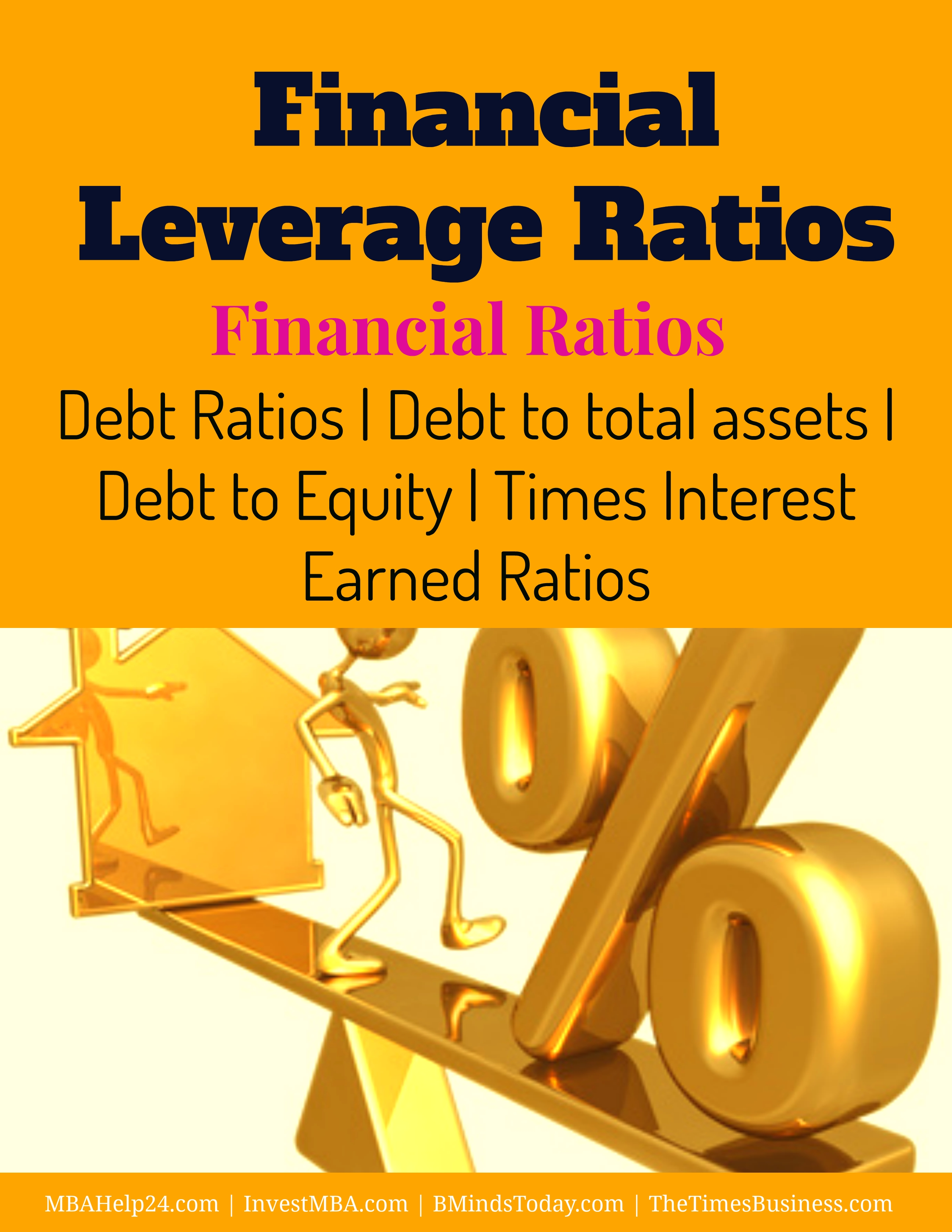 debt and leverage ratio Large amounts of debt can cause businesses to become less competitive and, in some cases, lead to default to lower their risk, investors use a variety of leverage ratios - including the.