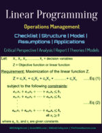 Linear Programming | Checklist | Structure | Model | Assumptions | Applications operations Operations Linear Programming Checklist Structure Model Assumptions Applications 150x194