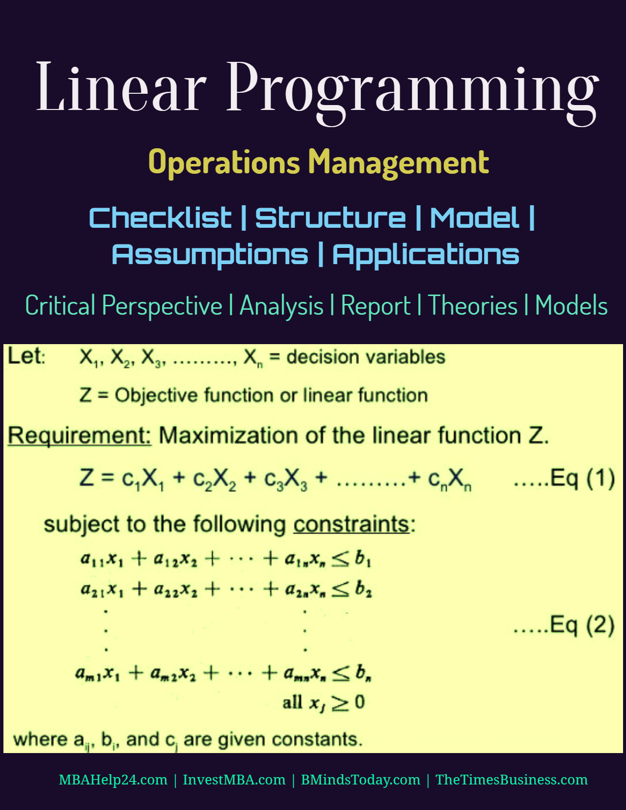Linear Programming | Checklist | Structure | Model | Assumptions | Applications Linear Programming Linear Programming | Checklist | Structure | Model | Assumptions | Applications Linear Programming Checklist Structure Model Assumptions Applications linear programming | structure | model | assumptions Linear Programming | Structure | Model | Assumptions Linear Programming Checklist Structure Model Assumptions Applications