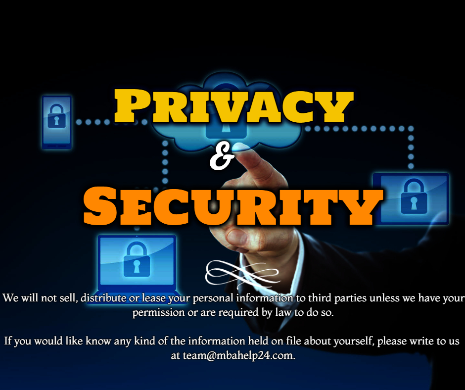 Statement of Privacy and Security | MBA Help 24 | MBA Dissertation