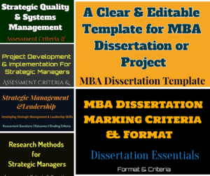 MBA Dissertation and Assignment Templates and Formats