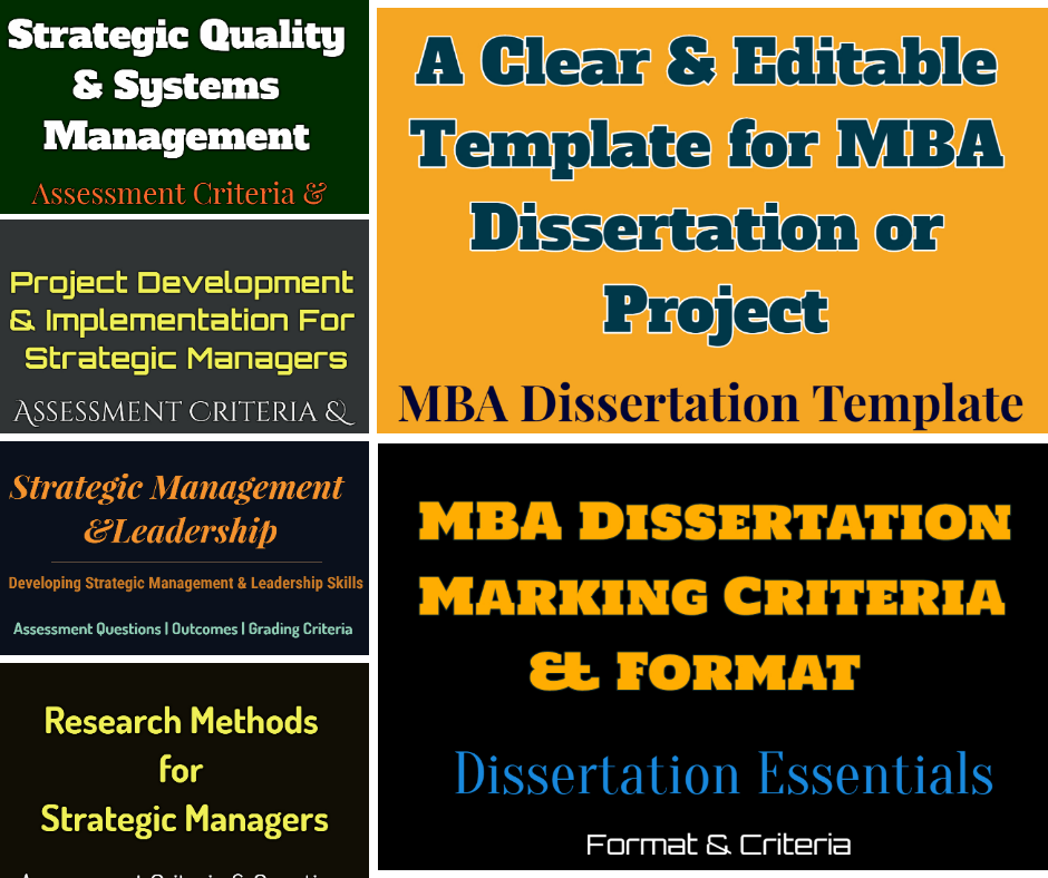 strategic management dissertation questions The 15 best business management master's thesis topics when you are nearing the end of your master's program, you will be asked to write a thesis paper the focus is to prove to a committee that you have gained the knowledge necessary to be considered a scholar in the field.