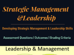 Strategic Management &Leadership | Developing Strategic Management And Leadership Skills | Assessment Criteria & Format