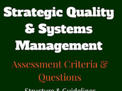 Strategic Quality & Systems Management | Assignment Questions | Assessment Criteria | Learning Outcomes | Grading format